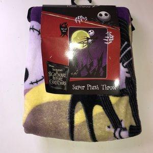 New Nightmare Before Christmas Plush Jack Blanket